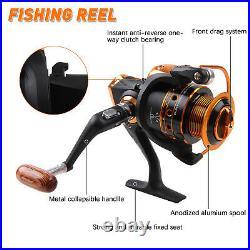 2.1M-3.6M Telescopic Fishing Rod Spinning Reel Combo Fishing Bag Full Set Gift