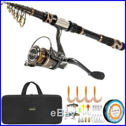 (2.7M 8.86FT, Full Kit with Carrier Case) PLUSINNO Fishing Rod and Reel