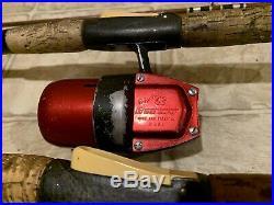2 True Temper 63t Uni-spin Rod Reel Combo / Uni spin 63 R Reel Working