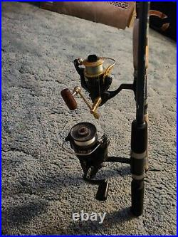 2 rods and 2 reel combo, Berkley, Shimano rods, Mitchel and cardinal reels