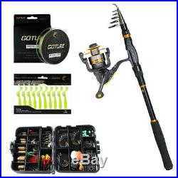 3.6M Fishing Rod Combo Travel Sea Rock Telescopic Rod Spinning Reel Full Kit