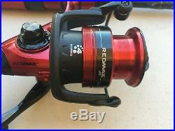 3 ABU GARCIA RED MAX SPINNING ROD AND REEL COMBOS 7' feet long BRAND NEW