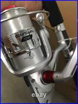 (3 Combo) Okuma Boundary 7 Spinning Rod Reel Pier Catfish Dealer Half Case