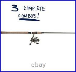 (3) Shakespeare Wild Series Salmon Steelhead 106 2-pc UL Rod + Reel Combos
