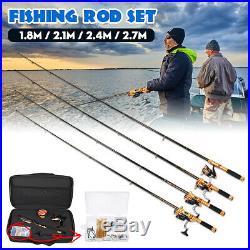 32PCS/Set Fishing Rod And Reel Combo Spinning Fishing Pole Line Spool Full Kit