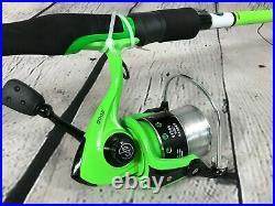 4 Favorite GOOGAN SQUAD 2 Pc. 6'6 Glass Rod & Spinning Reel Fishing Combo NEW