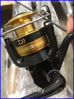 5pc Dealer Case Daiwa D-Shock 7 Spinning Rod/Reel Combos Med Action Cork Handle