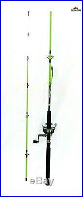 7'6 Medium Heavy Action Spinning Rod & Reel Combo NEW