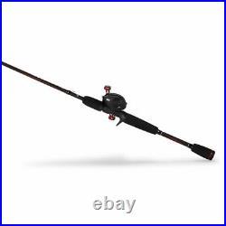 Abu Garcia Black Max Low Profile Baitcast Reel and Fishing Rod Combo