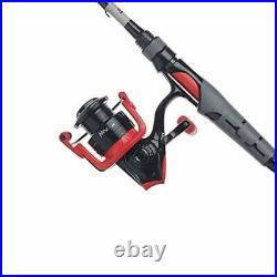 Abu Garcia Black Max & Max X Spinning Reel and Fishing Rod Combos Red 60 Re