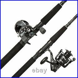 Abu Garcia Catfish Commando Fishing Rod and Reel Combo, 7 Feet, Medium Heavy