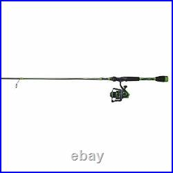 Abu Garcia Virtual Spinning Reel and Fishing Rod Combo Green, 30 Reel Size 7