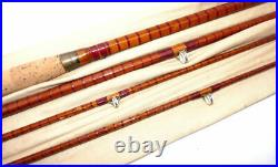 Allcocks of Redditch 12' split cane combination spin & fly rod with 2 tips ve