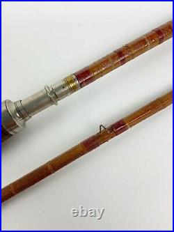 Antique 9' split Bamboo combination fly rod Spinning rod