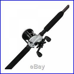 Baitcasting Reel Fishing Rod Combo Ugly Stik Catfish Round Double Paddle Handle