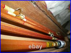 Beautiful Royal-Monarch Bamboo Fly/Spin Rod Combo. Kit. 8'-3/2 Fly+5'6''-2pc. Spin