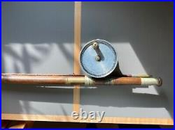 Braddell and Son Fishing Reel and Andersons Salmon Rod Combo Rare Vintage