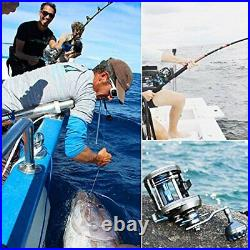 Burning Shark Trolling Reel Saltwater Level Wind Reels, Drag Reels Boat Fishing