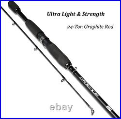 Cadence CC4 Spinning Combo Lightweight with 24-Ton 2-Piece Graphite Rod Strong &