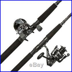 Catfish Angling Commando Fishing Rod and Reel Combo, 7 Feet, Medium Heavy Power