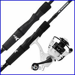 Crixus Fishing Rod and Reel Combo A Spin-6'0 Medium Light 2000 Reel 2 PCS