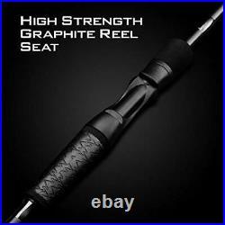 Crixus Fishing Rod and Reel Combo, A Spin-6'0 Medium Light-2pcs, 2000 reel
