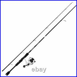 Crixus Fishing Rod and Reel Combo, Spinning, 6ft 6in, Medium, 2pcs, 3000 Reel