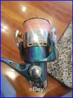 Daiwa Spinning reel and Megabass rod combo