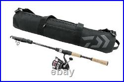 Daiwa Travel Compact Kit Telescopic Spinning Combo 7' 2 Rod with Crossfire 2500