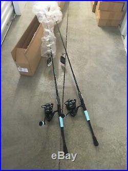 Dealer Case 2 PENN PURSUIT III 5000LE Saltwater Rod Reel Combos 7 1pc Med Pier