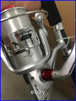 Dealer Case (6) Okuma Boundary 7 Spinning Combo Rod Reel Sz 40 Pier Catfish