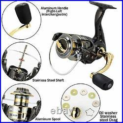 Dr. Fish Fishing Rod and Reel Combos 125pcs Full Kit Carbon Fiber Telescopic Spin