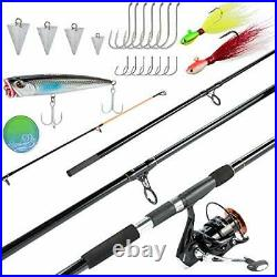 Dr. Fish Surf Fishing Rod and Reel Combo 12ft Surf Rod 9000 Saltwater Spinning