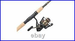 Durable & Sensitive Medium Fishing Rod with Cork Handle & Spinning Reel Combo (7')