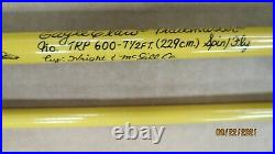 EAGLE CLAW TRAILMASTER TRP-600 7-1/2' 4PC SPIN/FLY COMBO ROD WithHARD CASE
