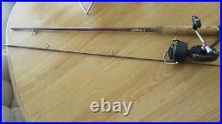 Fishing Reel Rare Garcia Mitchell 510 Split Fork Foot & Garcia Conolon 6½ Rod