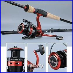 Fishing Rod Pole Newportable With Spinning Wheel Kit Reel Combo Carbon Fiber