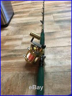 Fishing Rod Reel Boat Combo Heavy Duty Saltwater Outdoor