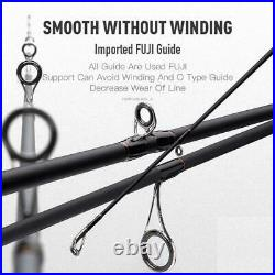 Fishing Rod Reel Combo Baitcasting Spinning 3 Sections Lightweight Casting Pike