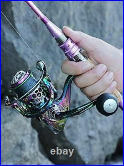 Fishing Rod Reel ComboCarbon Fiber Protable Spinning 6.9FT-Only Rod and Reel