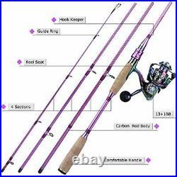 Fishing Rod Reel ComboCarbon Fiber Protable Spinning 6.9FT Rod +2000 Reel