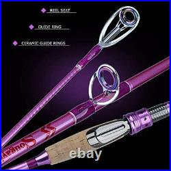 Fishing Rod Reel ComboCarbon Fiber Protable Spinning Fishing Pole and Colorful