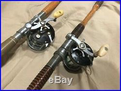 Fishing Rod & Reel Penn Peer 209 Ocean City 990 Set of 2 Spinning Used Lot