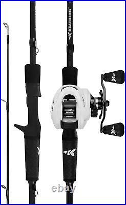 Fishing Rod and Reel Combo, Baitcasting Combo, IM6 Graphite