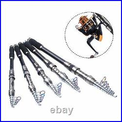 Fishing Rod and Reel Combo Carbon Fiber Telescopic Spinning Portable Fishing