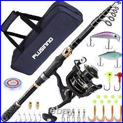 Fishing Rod and Reel Combos Carbon Fiber Telescopic Fishing Rod with Reeel Combo