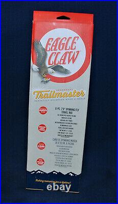 Fshing Trailmaster Combo Spin/Fly Pack Rod NIB Eagle Claw 7' w Assorted Tackle