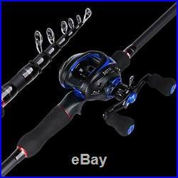 Goture Fishing Pole kit//Telescopic Fishing Pole//Rod & with Reel Combo Fishing