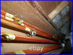 Japanese, Royal-Monarch Bamboo Spin/Fly Rod Combo. Kit. 8'-3/2 Fly+5'6''-2pc. Spin