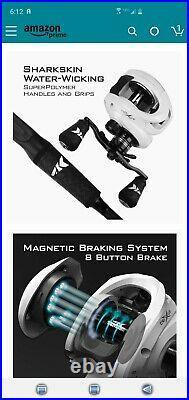 KastKing Crixus Fishing Rod and Reel Combo, Baitcasting Combo, IM6 Graphite 7ft